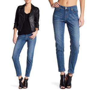 Seven7 Rhinestone Girlfriend Skinny Jeans